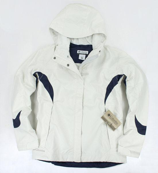美國百分百【全新真品】Columbia omni-tech 哥倫比亞 女 防風 防水 外套 夾克 大衣 白色 M號