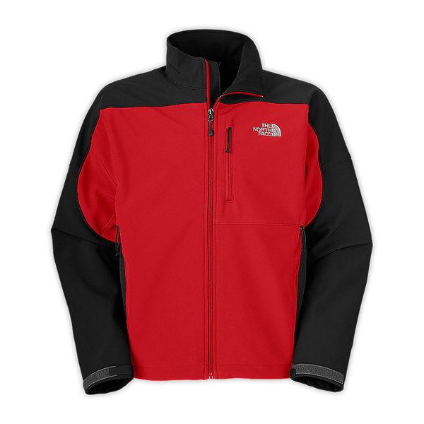 美國百分百【全新真品】The North Face 男款 經典 騎士 防風 防水 外套 夾克 外衣 紅黑色 L號