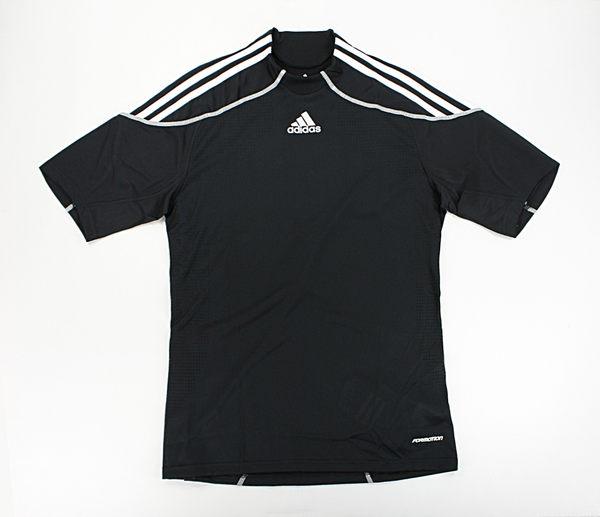 美國百分百【全新真品】Adidas 愛迪達 貼身 透氣質料 貝克漢 足球衣 男 運動T恤 T-shirt 黑 S M