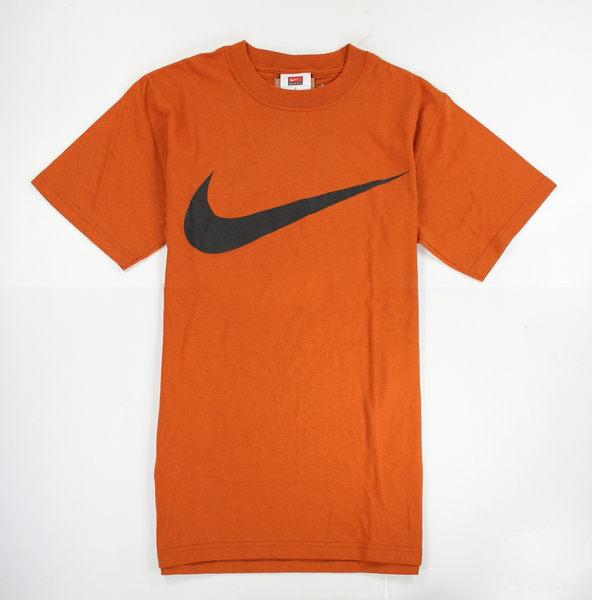 美國百分百【全新真品】NIKE T恤 T-shirt 男生 短袖 純棉 橘色 超商取 籃球 S號 超取