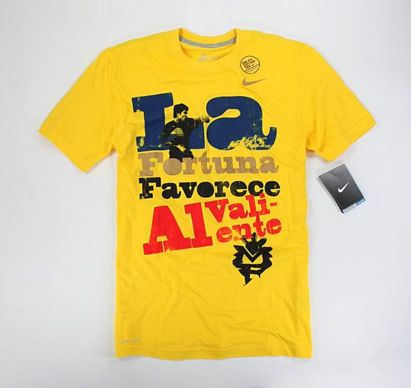 美國百分百【全新真品】NIKE 耐吉 DRI-FIT 拳擊手 運動T 透氣 黃色 短袖 T恤 T-shirt S號 現貨