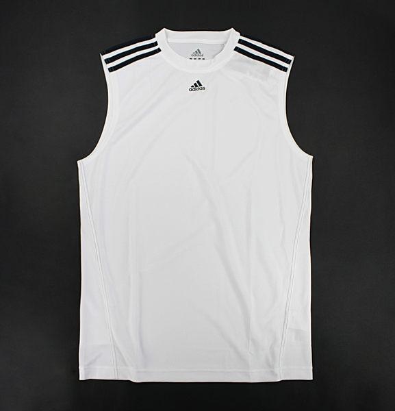美國百分百【驚喜價】全新 Adidas 愛迪達 打球 籃球 運動 球衣 球T 運動背心 白色 S M L XL號