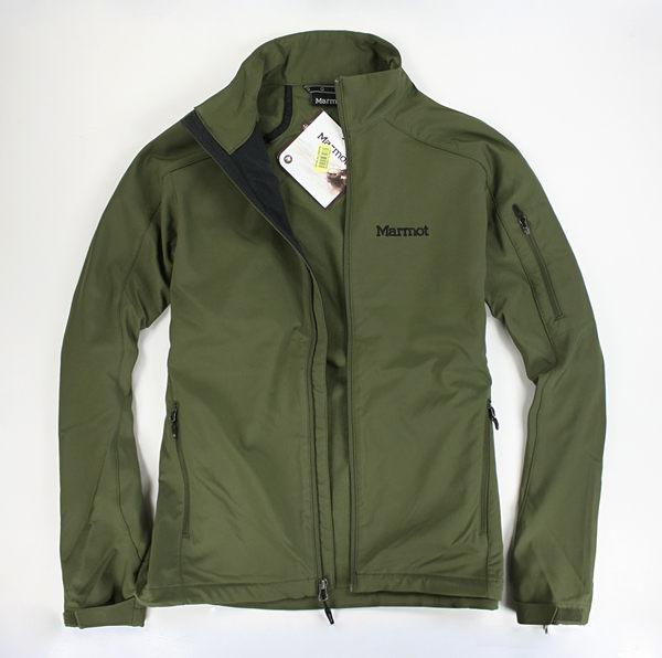 美國百分百【全新真品】Marmot 男 登山 薄款 防水 夾克 立領 外套 中空纖維 運動外衣 草綠 M