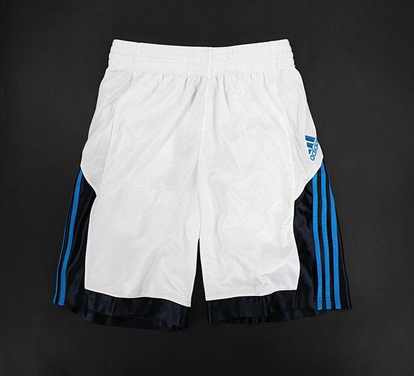 美國百分百【全新真品】Adidas 愛迪達 籃球 足球 網球 運動 休閒 打球 球褲 白色 M L號