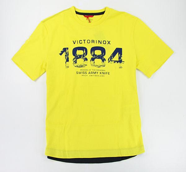美國百分百【全新真品】Victorinox Swiss Amy 瑞士刀 男生 亮黃 短袖 T恤 T-shirt Tees S M號