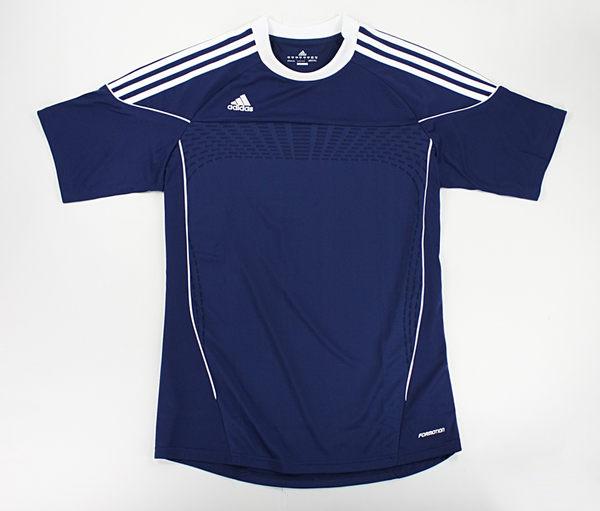 美國百分百【全新真品】Adidas 愛迪達 CLIMACOOL 運動T恤 足球衣 球T 超透氣 排汗T 深藍 L號