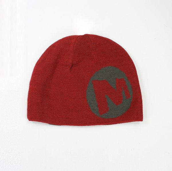 美國百分百【全新真品】Merrell origins 毛線帽 男 毛帽 針織帽 羊毛帽 棗紅色 logo素面 one size