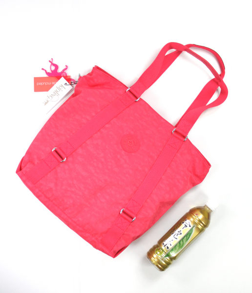 美國百分百【全新真品】Kipling 猩猩包 女生 肩背包 手提包 方包 亮粉紅 附吊飾 可超取