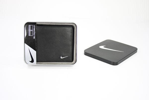 美國百分百【全新真品】Nike golf 男款 運動 皮夾 皮包 短夾 錢包 荔枝皮 鈔票夾 黑色 超取