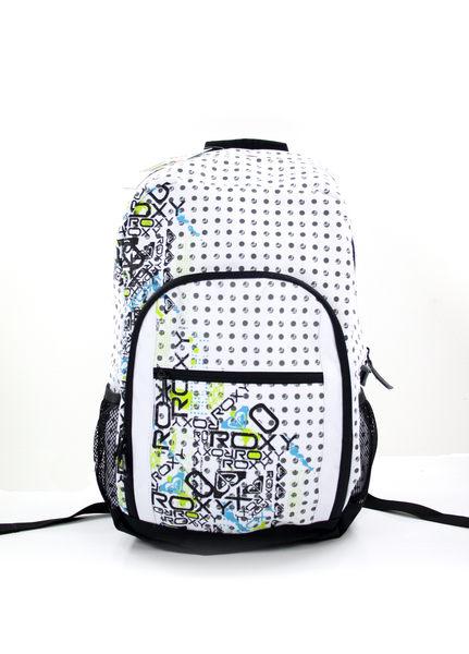 美國百分百【全新真品】ROXY 女生 後背包 學生包 外出包 上課 運動 逛街 白色 大包 超取