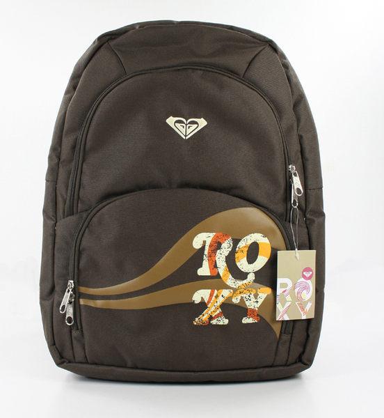 美國百分百【全新真品】Roxy 美國風 學生包 後背包 雙肩包 書包 咖啡 大包 超取 免運 特價