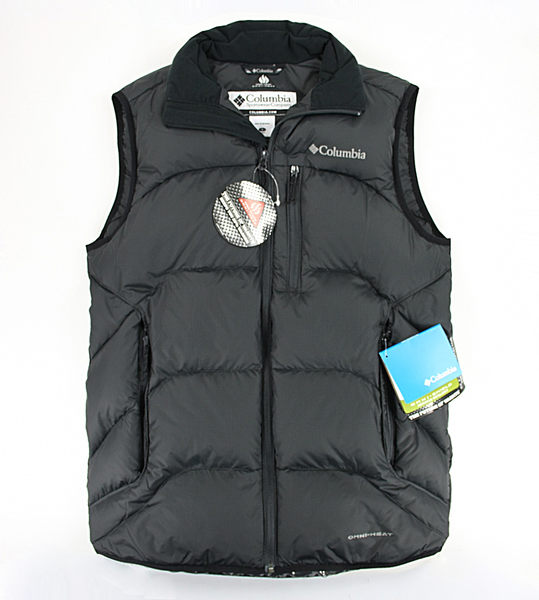 美國百分百【全新真品】Columbia 哥倫比亞 omni heat 羽絨 保暖 發熱 拉鍊 背心 男 外衣 S號