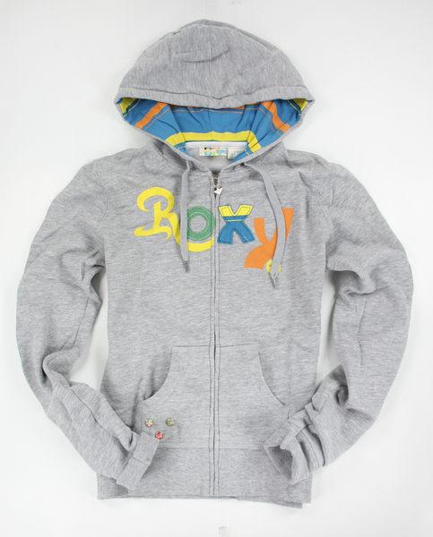 美國百分百【全新真品】ROXY 女生 連帽外套 外衣 鈕扣式 灰色 衝浪 休閒 美國寄件