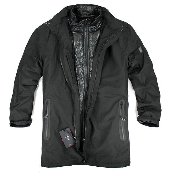美國百分百【全新真品】Tumi T-tech 防風 大衣 立領 外套 雙層 夾克 保暖 防水 收納帽 風衣