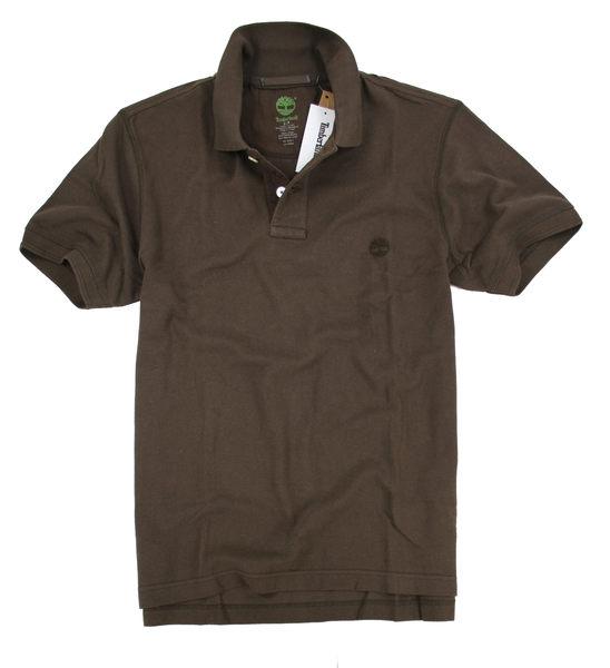 美國百分百【全新真品】Timberland 型男 POLO杉 素面 網眼 上衣 百搭款 咖啡 超商取 美國寄件