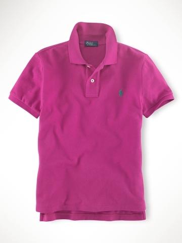 美國百分百【全新真品】Ralph Lauren children 童裝 小孩 純棉 短袖 上衣 polo衫 紫 RL 親子裝 3歲