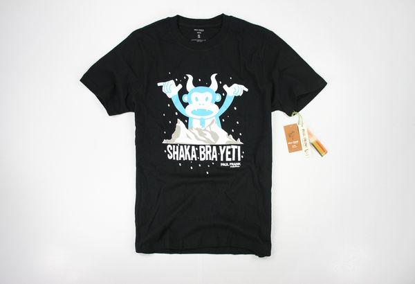 美國百分百【全新真品】Paul Frank 搖滾 雪人 ROCK 猴子 搞怪 卡通 圖案 短袖 T恤 S號 可超取