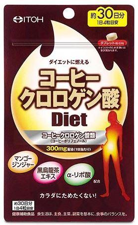 日本(產地:大阪府)   ITOH 井藤  咖啡綠原酸 Diet 酵素  120粒  30天分  綠原酸提升血管力 控血糖