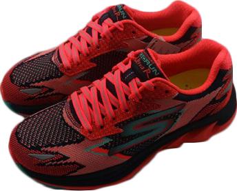 [陽光樂活] SKECHERS 女 跑步系列GO Run Ultra R 慢跑鞋 14005NVCL 橘x黑x土耳其藍