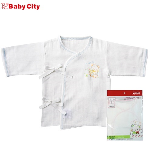 【安琪兒】娃娃城【BabyCity】絲棉紗 布肚衣(藍/粉)