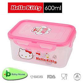 [ Baby House ] HELLO KITTY PP 保鮮盒 600ML【愛兒房生活館】