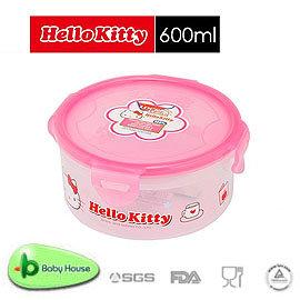 [ Baby House ] HELLO KITTY PP 保鮮盒 600ML/圓型 【愛兒房生活館】