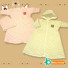 [ Baby House ] ◤純棉-台灣製◢ 嬰兒舖棉縮腰防寒睡袍【愛兒房生活館】