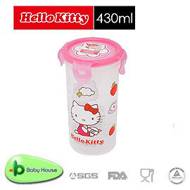 [ Baby House ] HELLO KITTY PP 保鮮盒 430ML/圓型【愛兒房生活館】