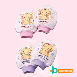 [ Baby House ] 紗布羅紋手套【愛兒房生活館】