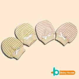 [ Baby House ] 條紋羅紋手套【愛兒房生活館】