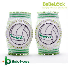 [ Baby House ] BeBeLock 韓國進口寶寶護膝【排球王子】Green B68-026A【愛兒房生活館】