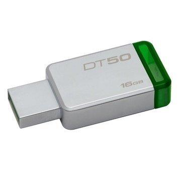 *╯新風尚潮流╭* 金士頓 隨身碟 DT50 USB 3.1 16G 綠標 無蓋式設計 金屬外殼 DT50/16GB