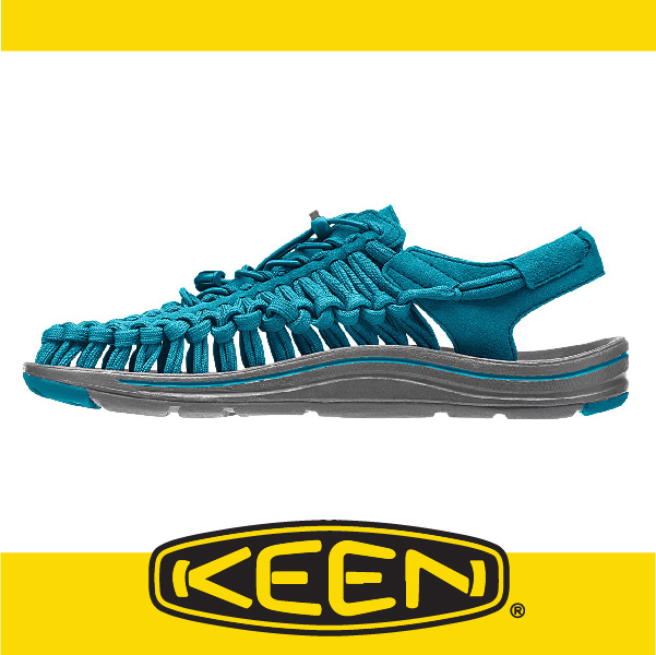 萬特戶外運動-美國KEEN 戶外編織涼鞋 UNEEK 2016春夏 男款 墨水藍/灰 163-1015540