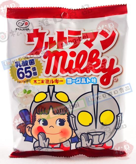 不二家Peko&鹹蛋超人牛奶糖(優格)73g【4902555116501】
