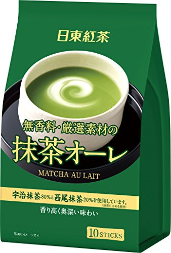 有樂町進口食品 日東 抹茶歐蕾 10入 新包裝上市 J105 4902831507634