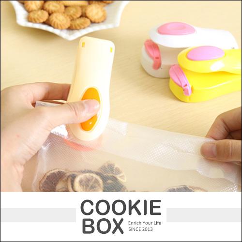 糖果色 便攜 迷你 封口機 家用 小型 零食 塑膠袋 密封機 手壓 熱封機 *餅乾盒子*