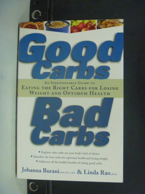 【書寶二手書T5/養生_HFU】Good carbs, bad carbs_Johanna Burani