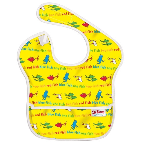 【淘氣寶寶】2016年最新 美國Bumkins防水兒童圍兜(一般無袖款6個月~2歲適用)-小魚