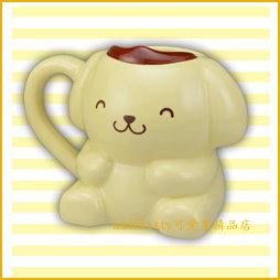 asdfkitty可愛家☆布丁狗瞇瞇眼陶瓷馬克杯-日本正版商品