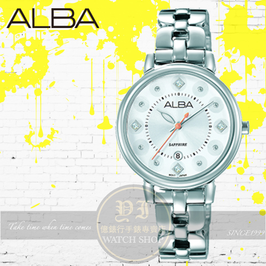 ALBA劉以豪代言FASHION LADY靚麗女孩時尚腕錶VJ22-X244S/AH7M25X1公司貨