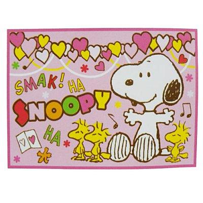 【真愛日本】13011700027 車用刷毛毯--粉 史奴比 史努比 SNOOPY 冷氣毯 懶人毯 正品