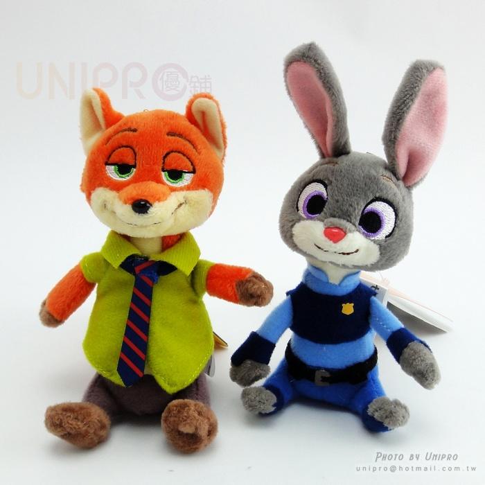 【UNIPRO】迪士尼 動物方城市 Zootopia 胡 尼克 Nick  帥氣 狐狸 哈 茱蒂  兔子 警察  絨毛玩偶  娃娃 珠鍊 吊飾 禮物