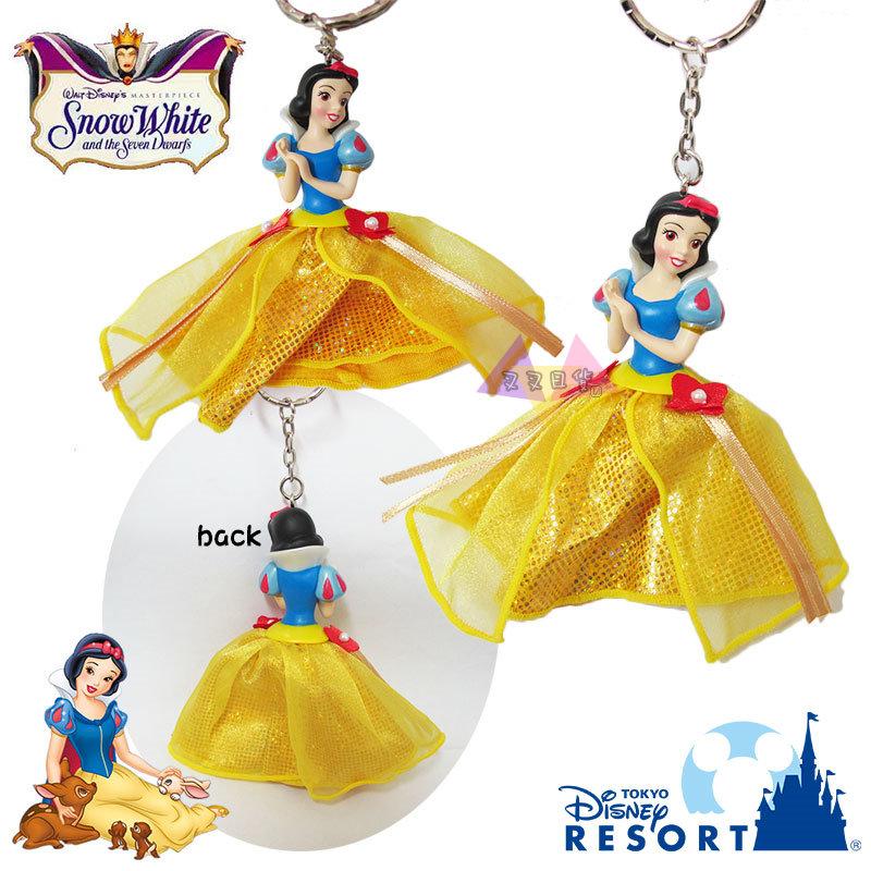 叉叉日貨 迪士尼樂園限定公主系列白雪公主公仔吊飾鑰匙圈 日本正版【Di04978】