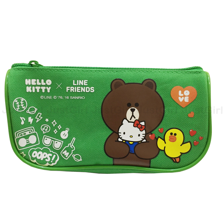 HELLO KITTY LINE 熊大 莎莉 鉛筆盒 筆袋 收納袋 船型 文具 正版日本授權 * JustGirl *