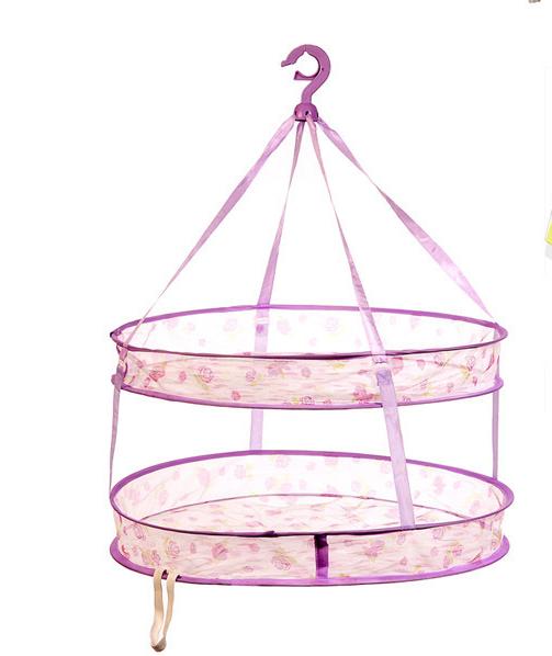 雙層防風晾衣籃 可拆卸式曬衣籃 防風可折疊曬衣網