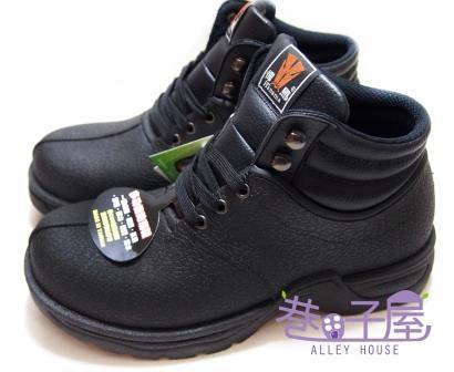 【巷子屋】Hanama悍馬 男款鋼頭高統多功能防潮鞋 T型排壓 一體成型 [882] 黑 台灣製造 超值價$690