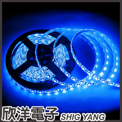 ※ 欣洋電子 ※ 12V 5050 LED整捲300燈5米條燈 / 白底藍光 (0465-BL)