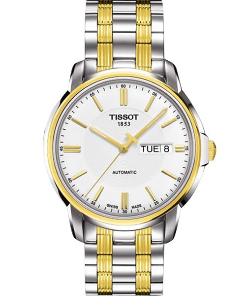 TISSOT天梭T0654302203100  雙色時尚經典機械腕錶/白面39.7mm