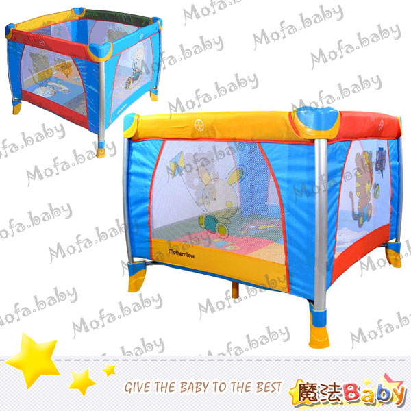 魔法Baby~鋁管方型單層遊戲床~嬰幼兒用品~遊戲床用品~T83063