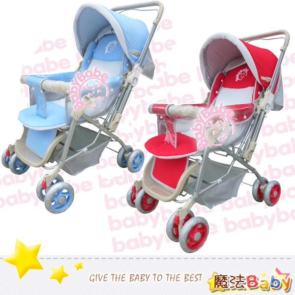 魔法Baby~雙向手推車(藍.紅兩款)~嬰幼兒用品~tb309